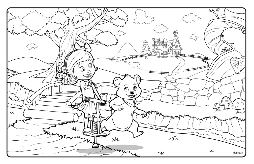 goldie and bear disney printable coloring page