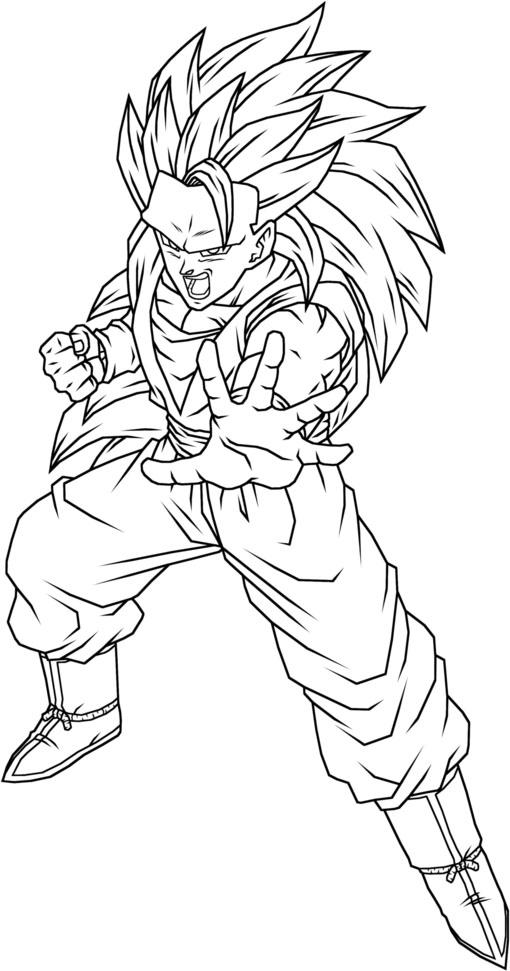 high detailed goku super saiyan coloring picture