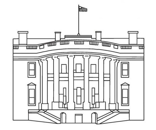 history of the white house coloring sheet for children learning