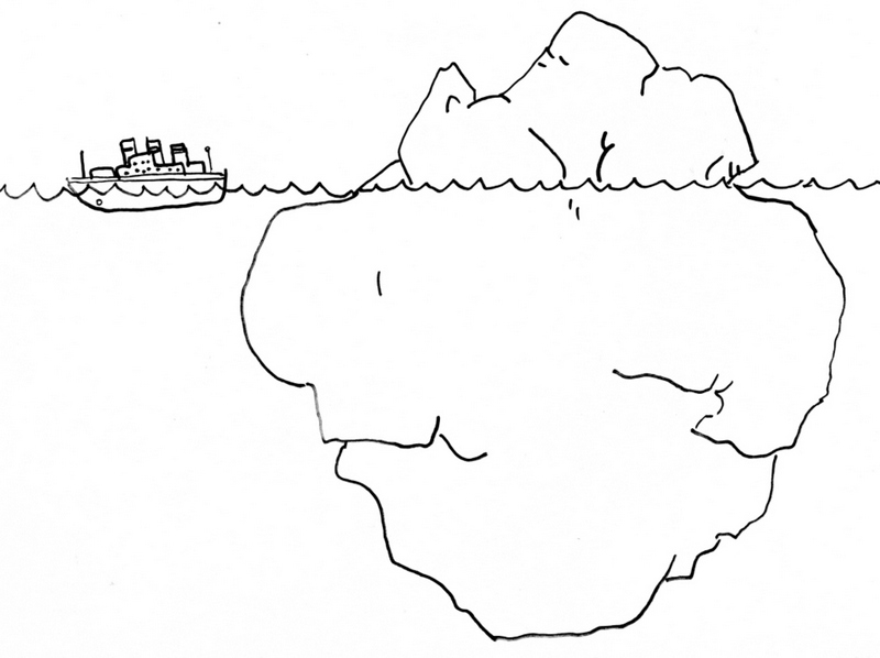 iceberg coloring ice mountain colouring page
