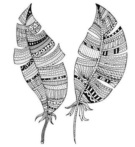 mandala feather zen coloring sheet