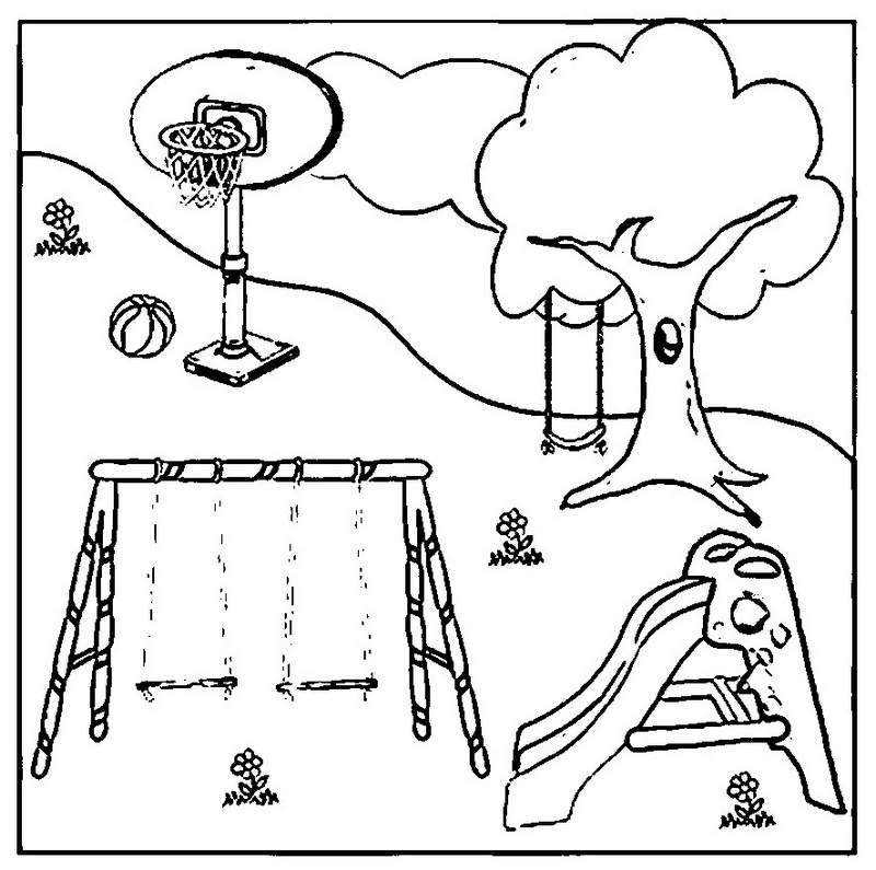 playground coloring pages and inside