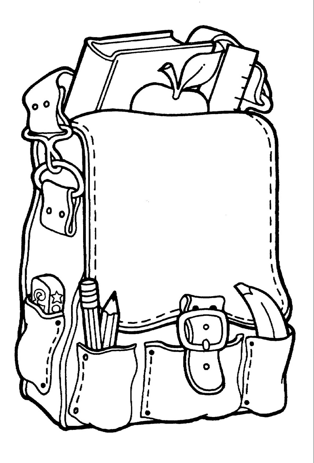 school bag backpack coloring picture