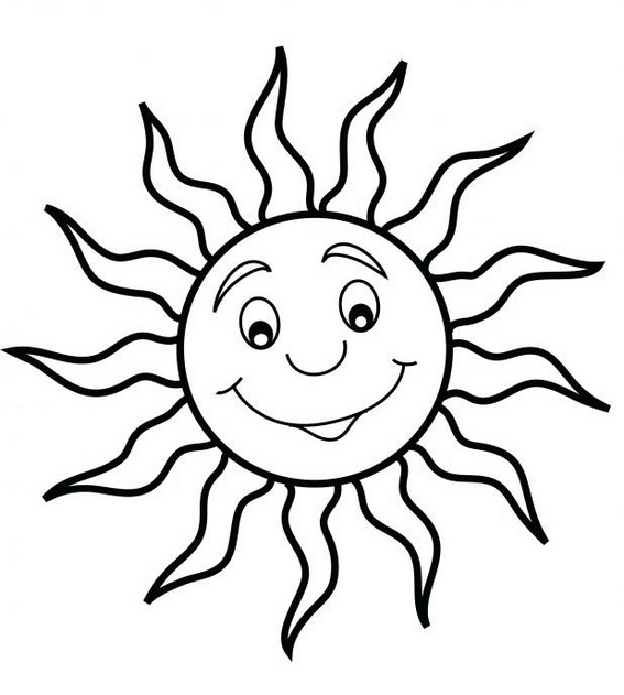 sun coloring pictures for preschool