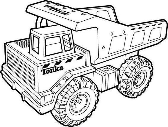 tonka dump truck coloring picture