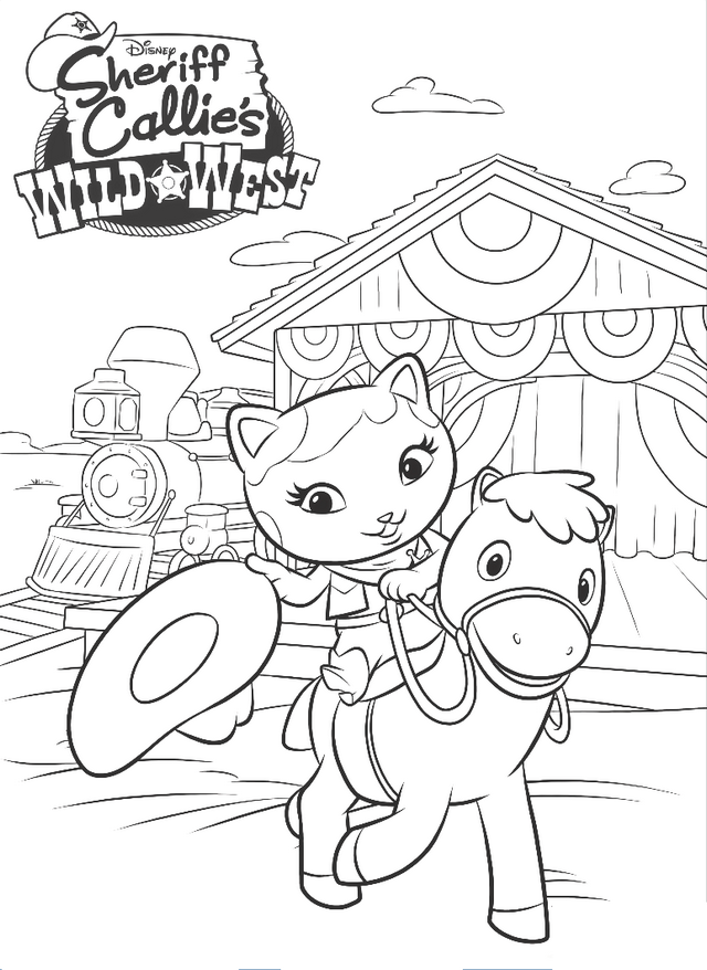 wild west coloring disney page