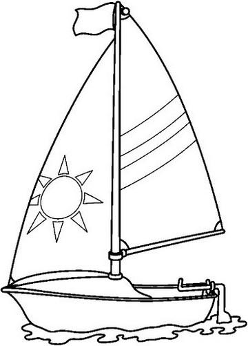 Epick Sailboat Coloring Sheet
