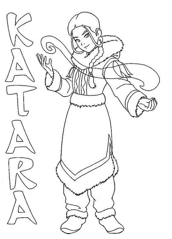 Katara from Avatar the last airbender coloring book