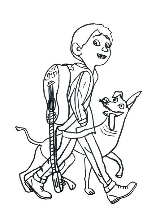 Miguel from Coco Disney Coloring Pictures for Little One