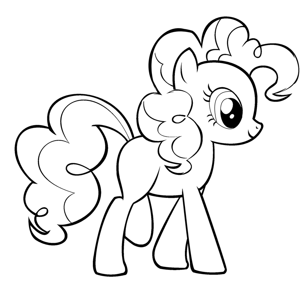 Pinkie Pie MLP coloring My Little Pony pages