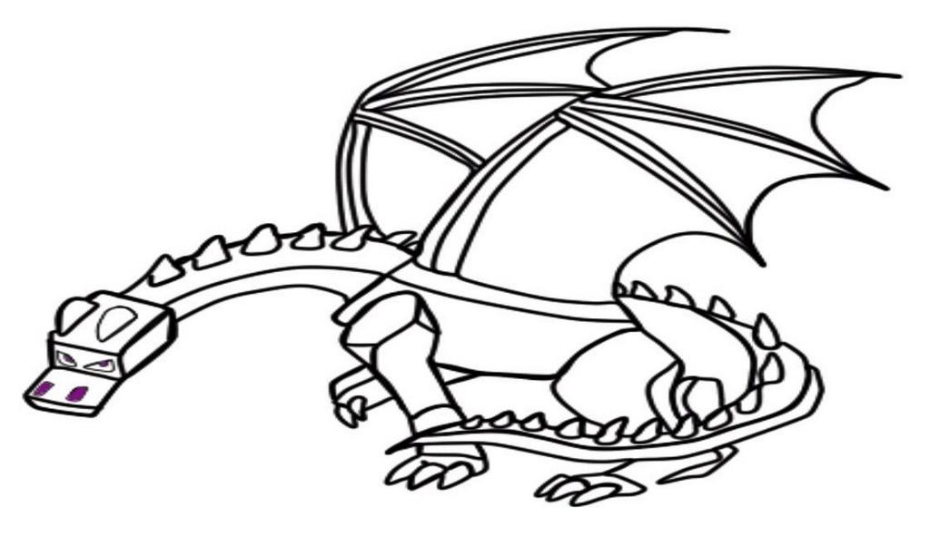 best ender dragon coloring page for children
