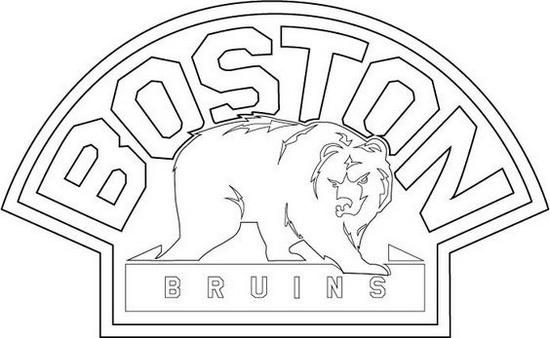 bruins bear logo coloring sheet for boys