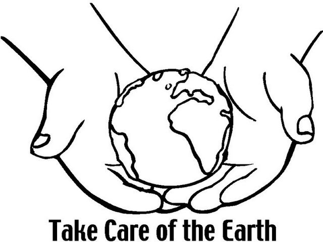 care for earth coloring pictures for kids