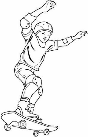 epic a boy riding skateboard coloring page