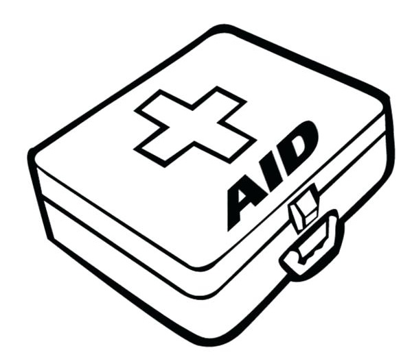 It's just a graphic of Old Fashioned first aid coloring page