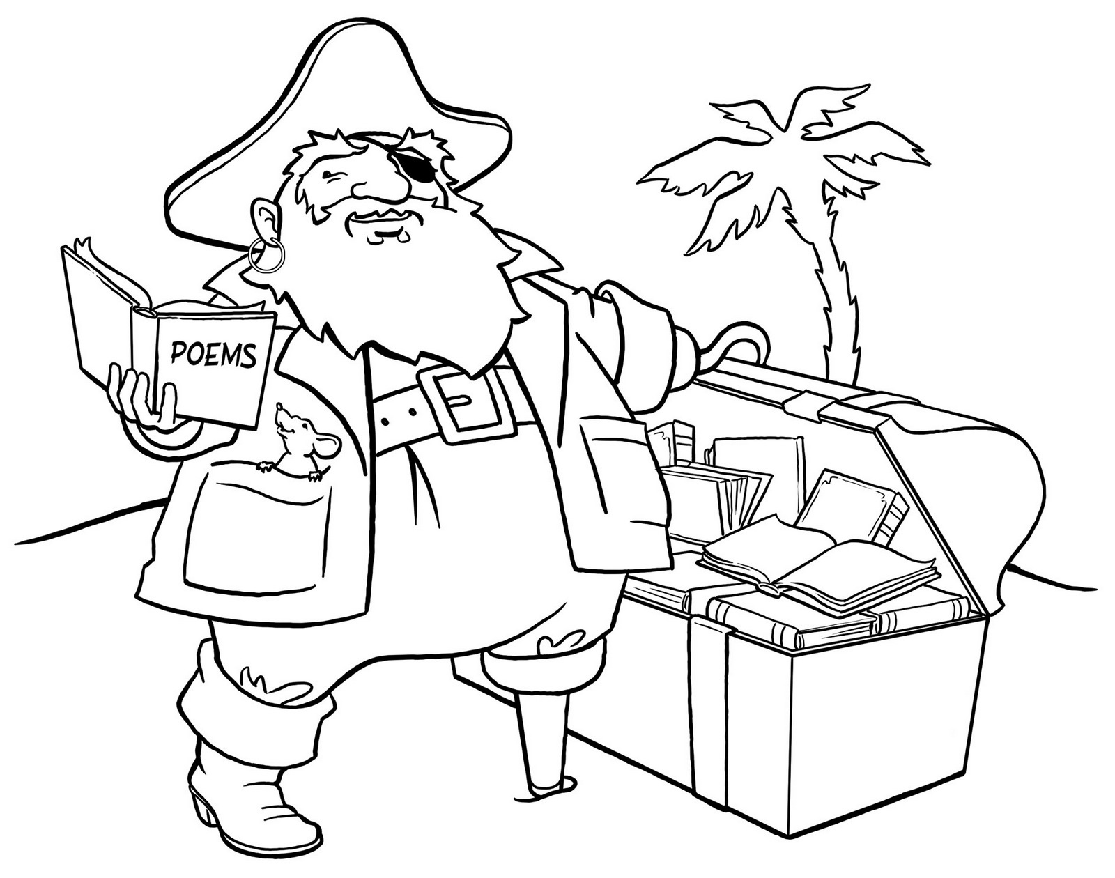 high detailed pirates coloring page printable