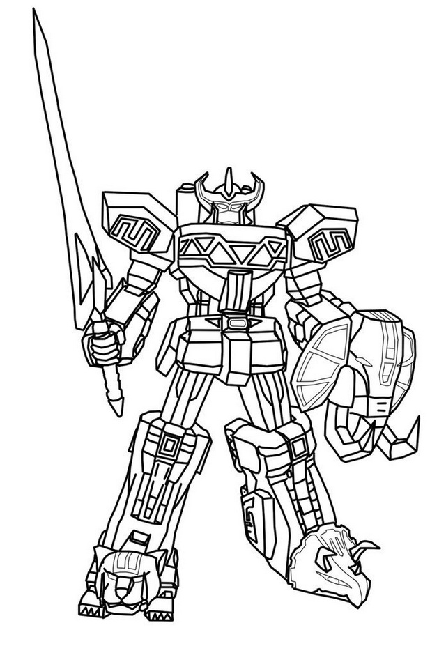high detailed voltron coloring picture for boys