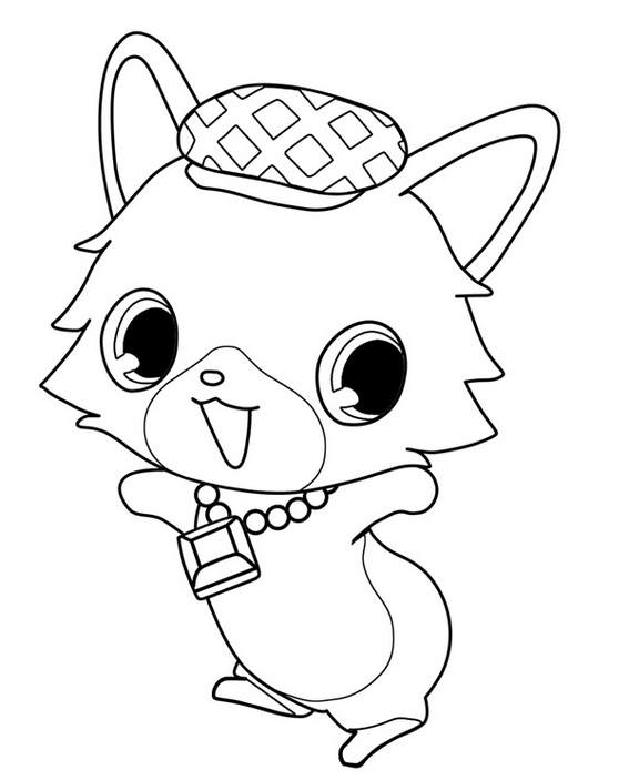 jewelpet nephrite coloring picture
