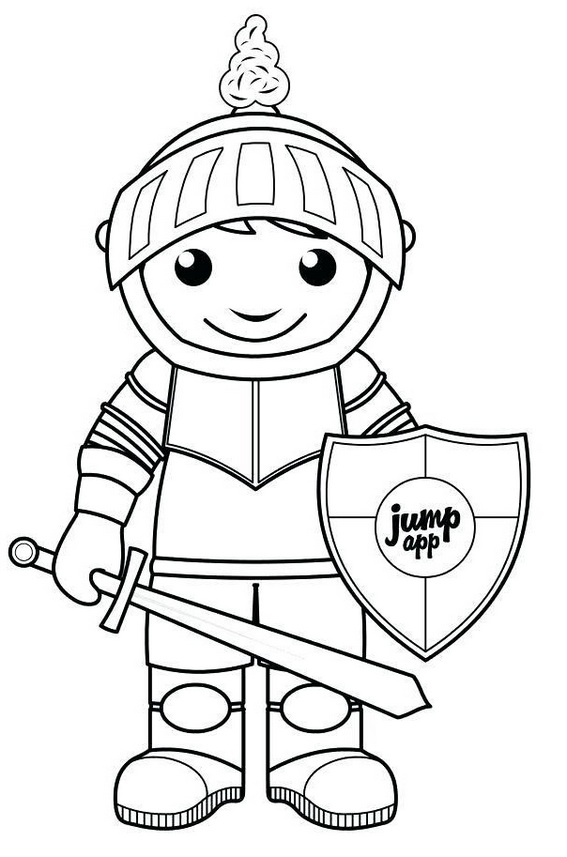 mike the knights game coloring pictures