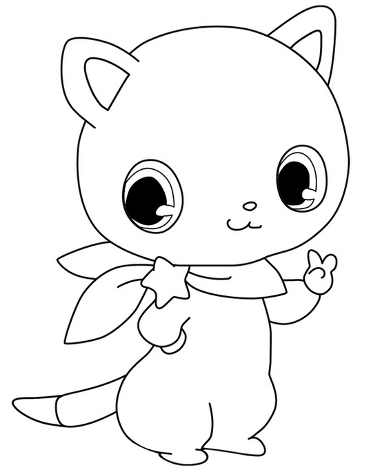 perfect jewelpet nikk coloring page