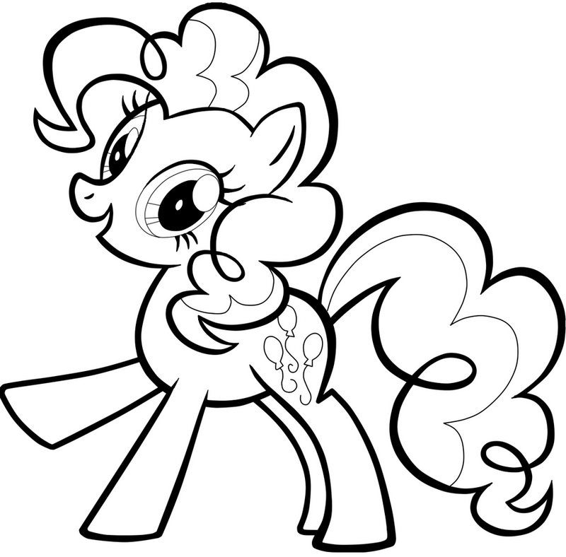 pinkie pie my little pony coloring page