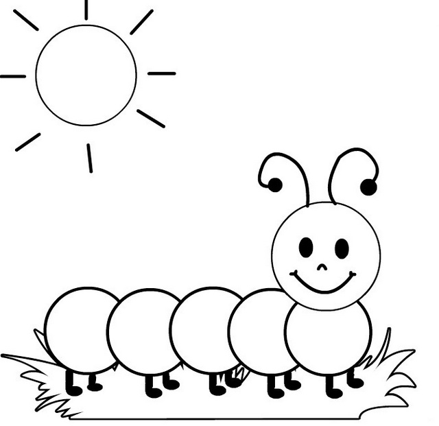 the larvae of sawflies caterpillar coloring sheet for kids