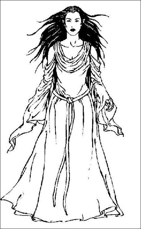 Arwen from Lord of the Rings Coloring Sheet