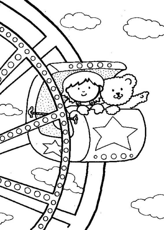 Best Ferris Wheel Carnival Coloring Pictures