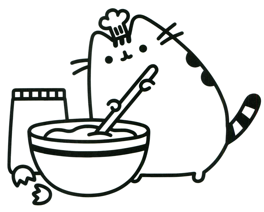 Best Pusheen Coloring Picture for Children