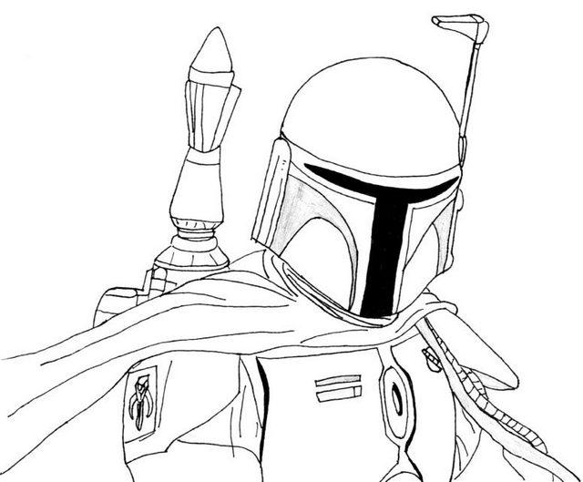 Boba Fett Coloring Sheets for Star Wars fans