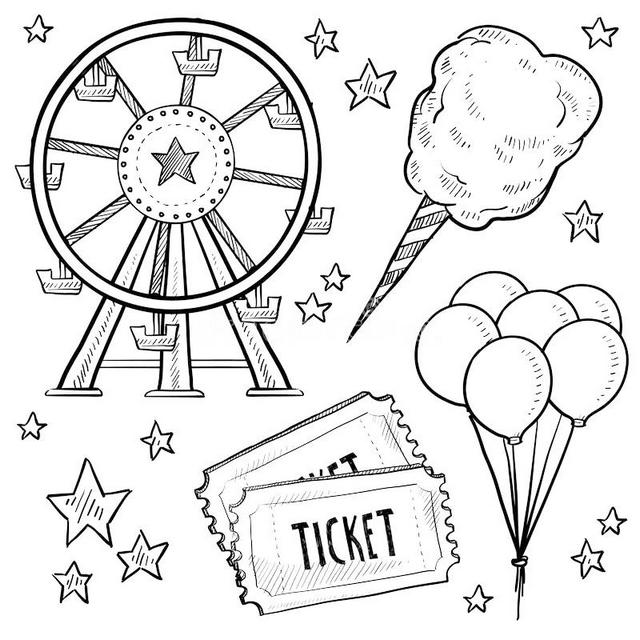 Epic Ferris Wheel Coloring Page