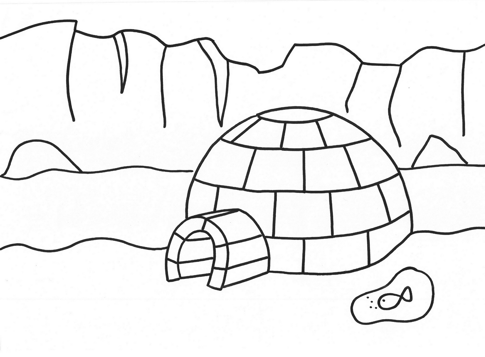 Epic Igloo Eskimo House Coloring Page