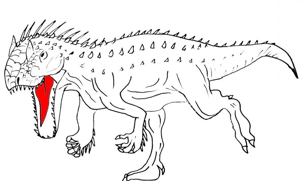 Fierce Indominus rex coloring sheet
