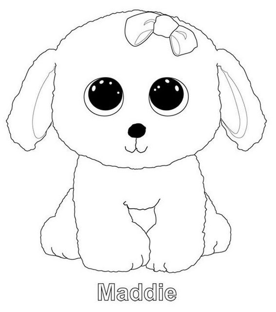 Maddie from beanie boo coloring sheet