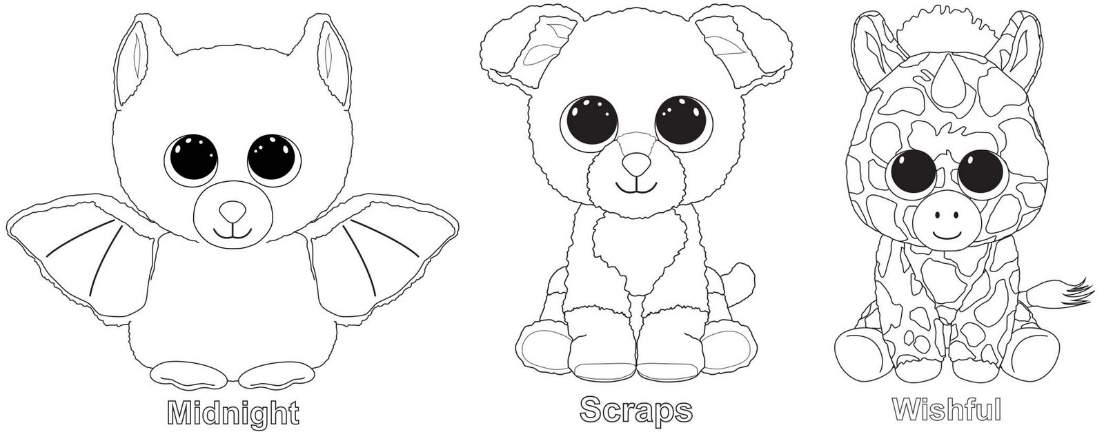 Beanie Boo S - Free Colouring Pages