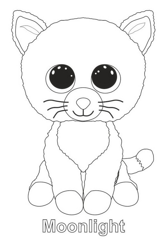 Moonlight from beanie boo coloring page
