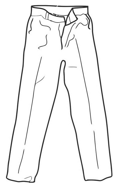 Trousers coloring and drawing page