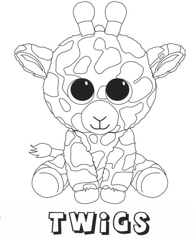 Twigs Beanie Boo Coloring Sheets