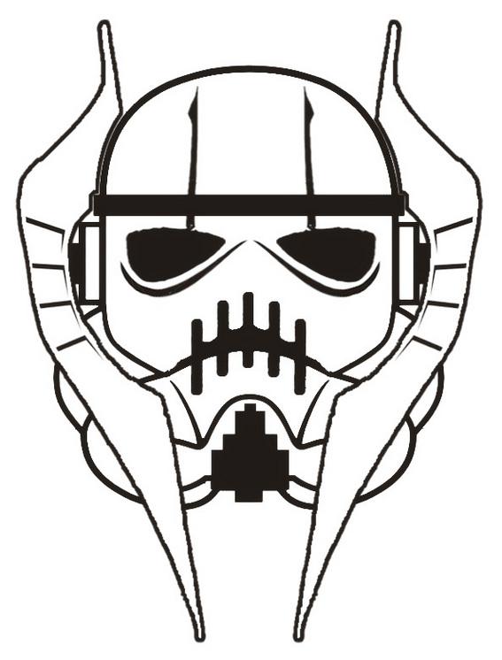 amazing grievous stormtrooper helmet star wars coloring sheet