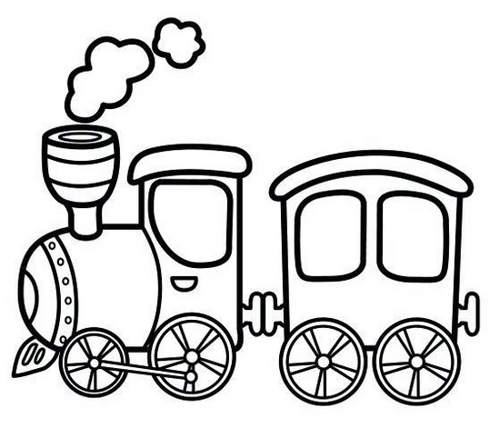 antique steam train cartoon coloring sheet online