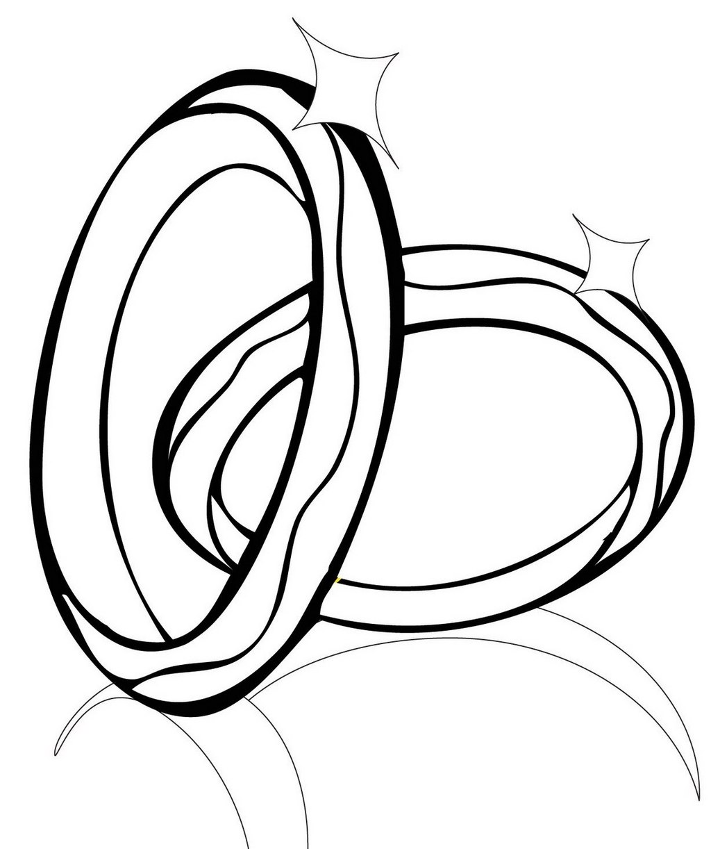 awesome wedding rings coloring sheet