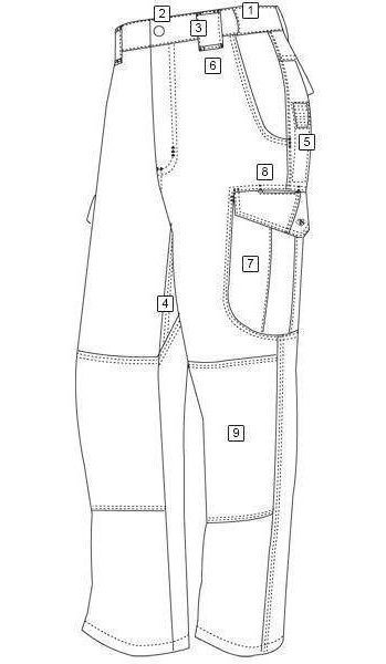 casual pants for men drawing page
