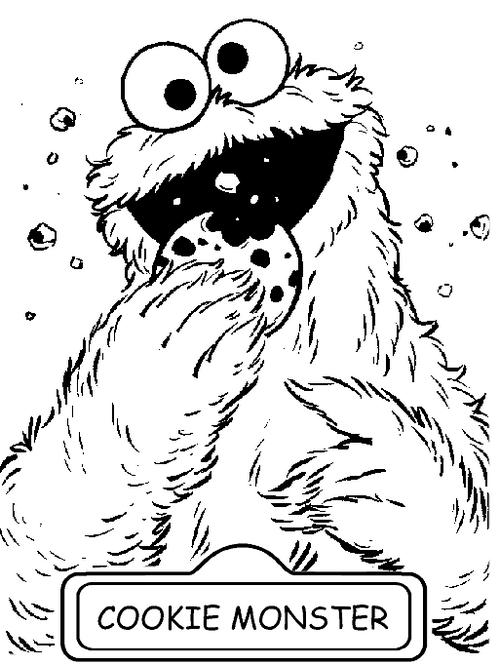 cookie monster sesame street coloring sheet
