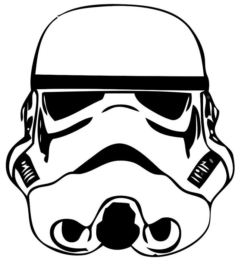 elegant stormtrooper helmet coloring picture