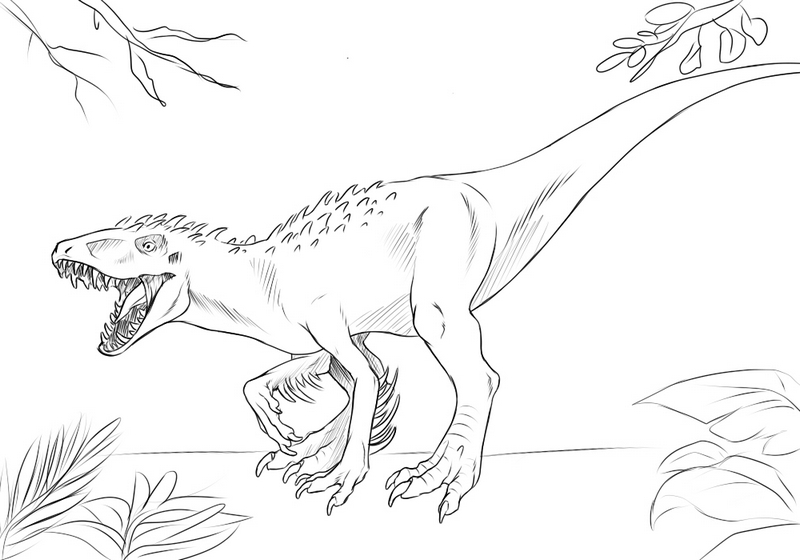 epic indominus rex coloring sheet online