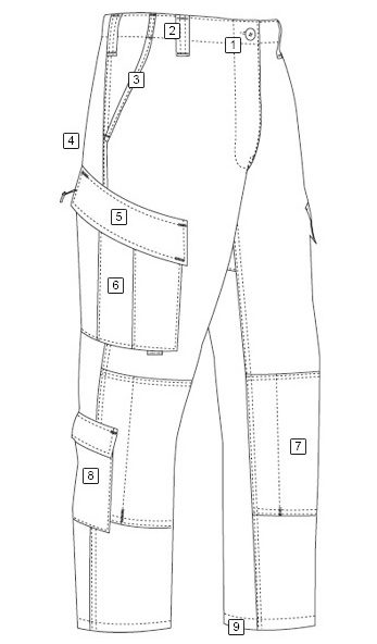 fashion styles of pants for men drawing design