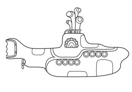 fun submarine coloring pages for small children