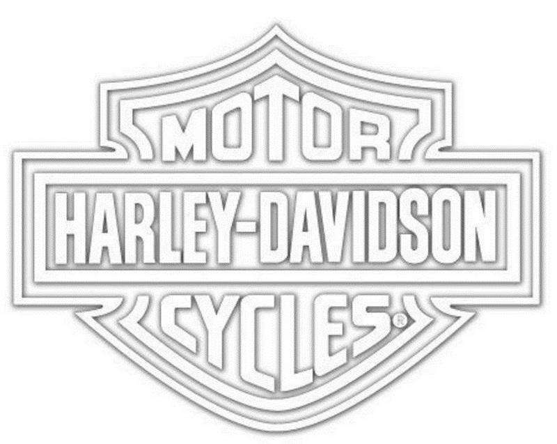harley davidson logo coloring sheet line art