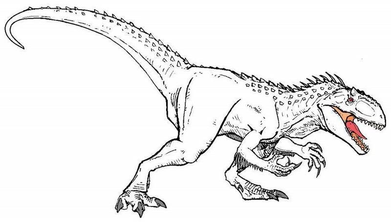 high detailed indominus rex coloring sheet