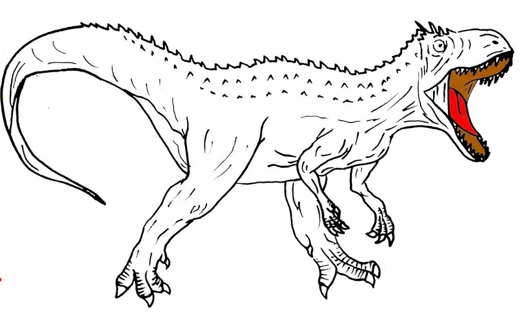 indominus rex page ready to color